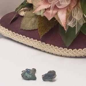 Vintage Handmade Rock Earrings